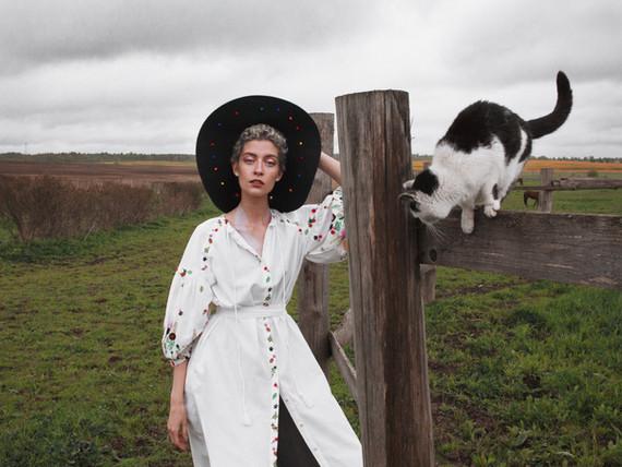 Porträt mit Katze