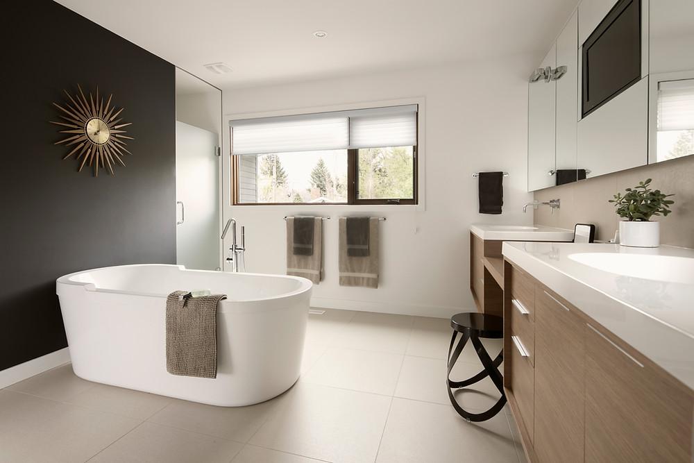 Beautiful staged bathroom