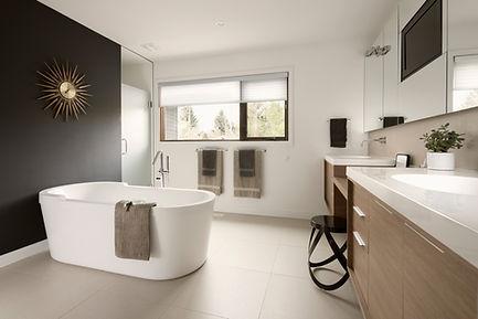 Modern, minimalist bathroom