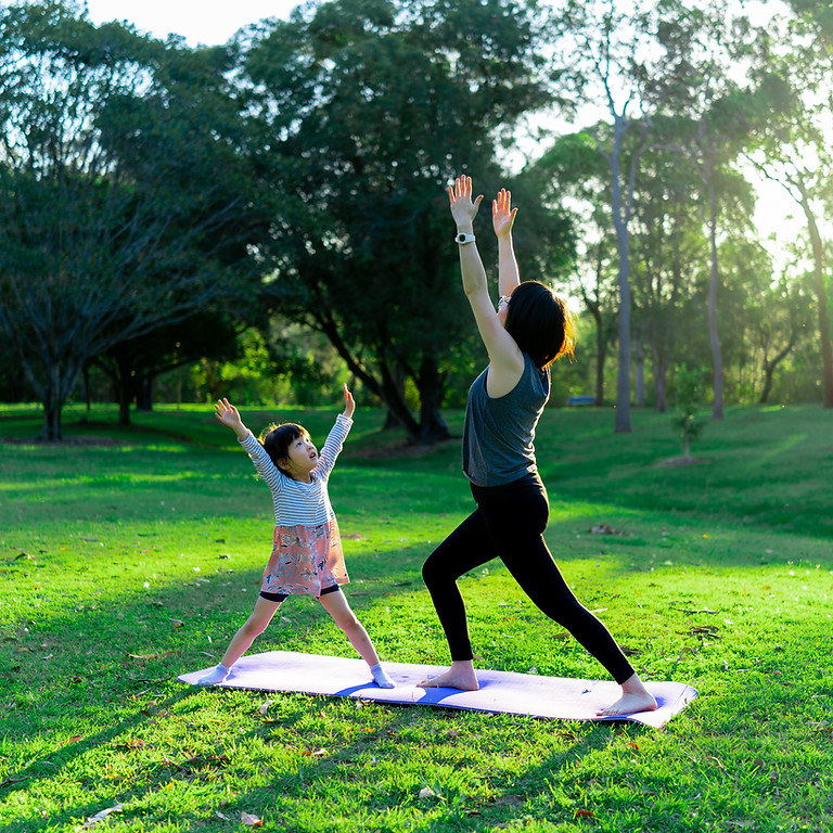 Family Yoga on the Lawn