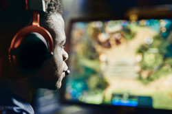 Gamer With Red Headset