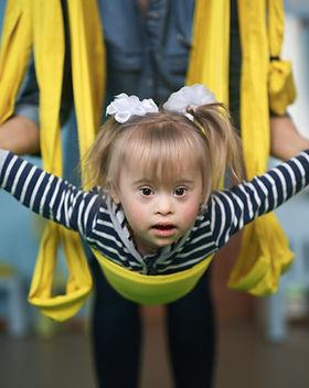 Child in Air Yoga, child exercise