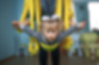 Dziecko w jodze powietrznej