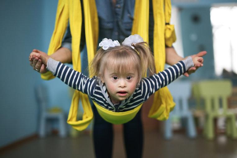 Child in Air Yoga