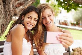 Friends Taking a Selfie