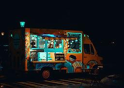 Camión de comida oscura