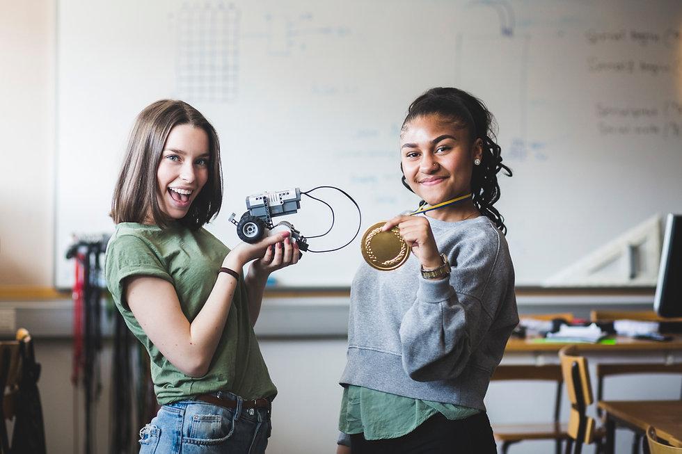 Succesvolle tieners