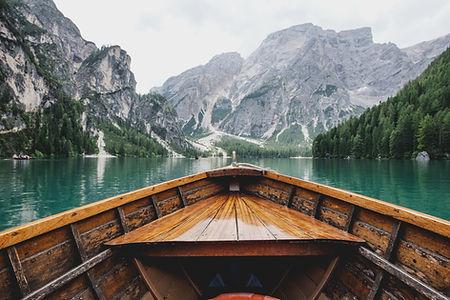 호수에 보트