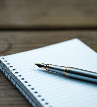 Taccuino e penna stilografica
