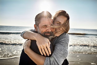 Hugging by the Beach
