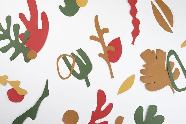 Recortes de hojas de papel