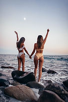 Dos amigos en el playa