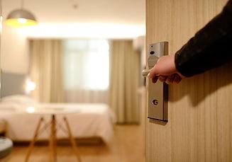 Hotel slaapkamer ingang