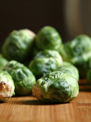 Garlic butter brussel sprouts