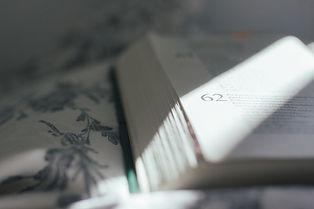 Photo d'un livre ouvert, parcouru d'un rayon de soleil