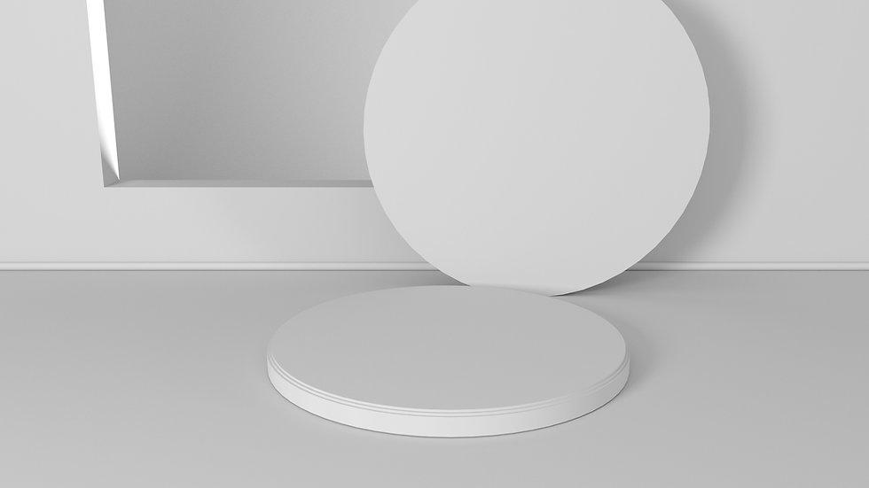 Formas redondas blancas