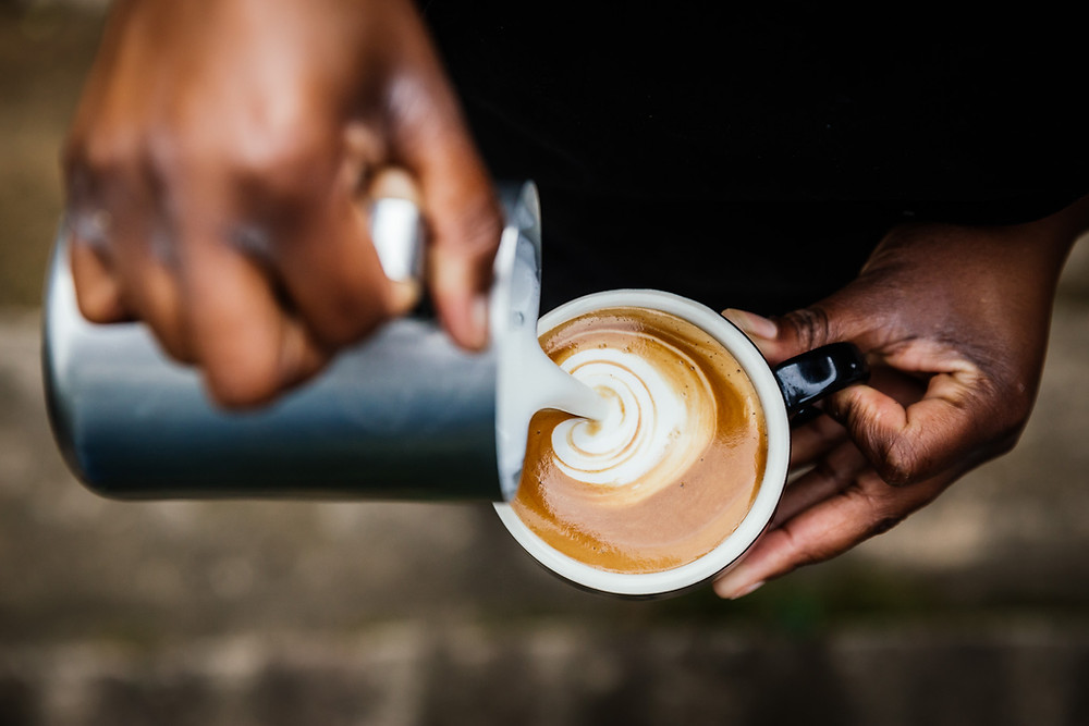 Athlete using coffee to boost energy