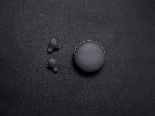Schwarze kabellose Ohrhörer
