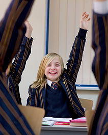 Class Raising Hands