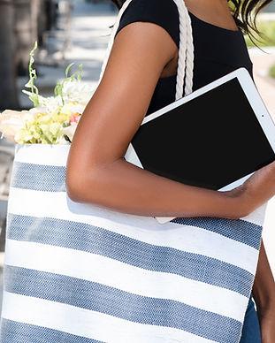 Tablet and Flower Bag