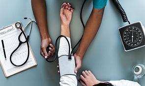 English speaking doctor helps patient