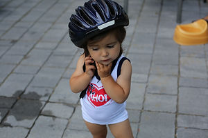Toddler with Helmet