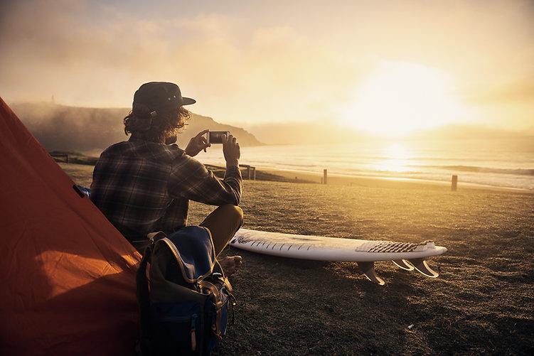 Camping at the Beach