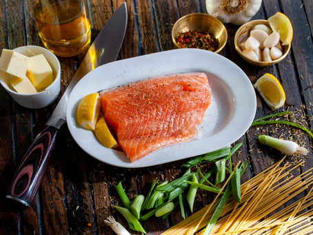 Farm-raised salmon is naturally white and then dyed pink.