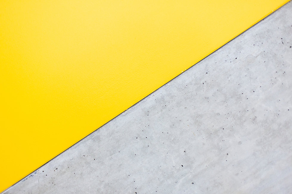 Yellow and Grey Wall