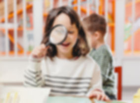 Reading with Magnifying Glass