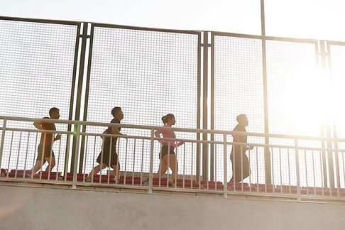 體育場跑步者