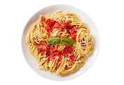 Pasta con salsa de tomate