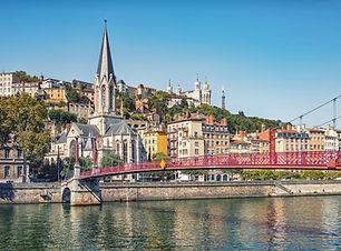 Červený most v Lyonu