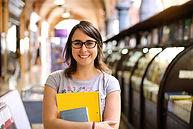 Retrato de estudiante femenina