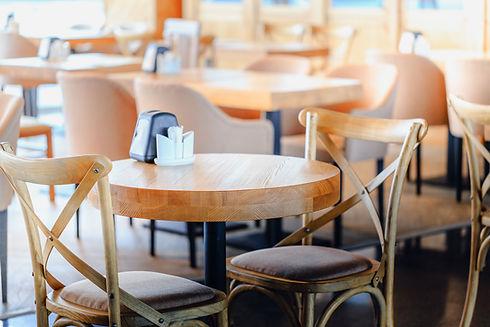 Muebles de madera para restaurante