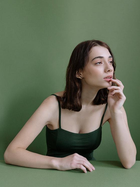 Woman Posing in Studio
