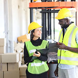 Workers with Safety Vests