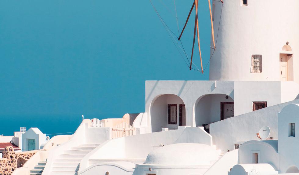 Weiße Architektur