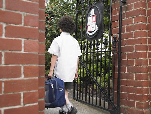 Entering School Gate