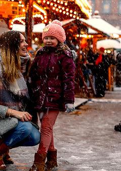 Wintermarkt Schnee
