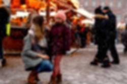 Winter Market Snow