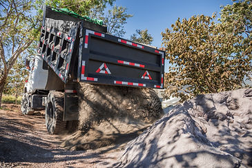 Dumping Sand