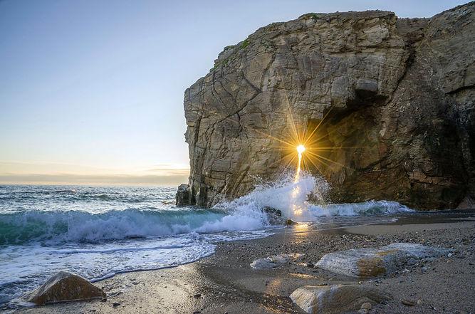 Coucher de soleil à la plage
