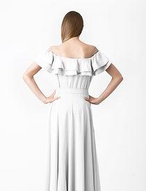 Woman in Long White Dress