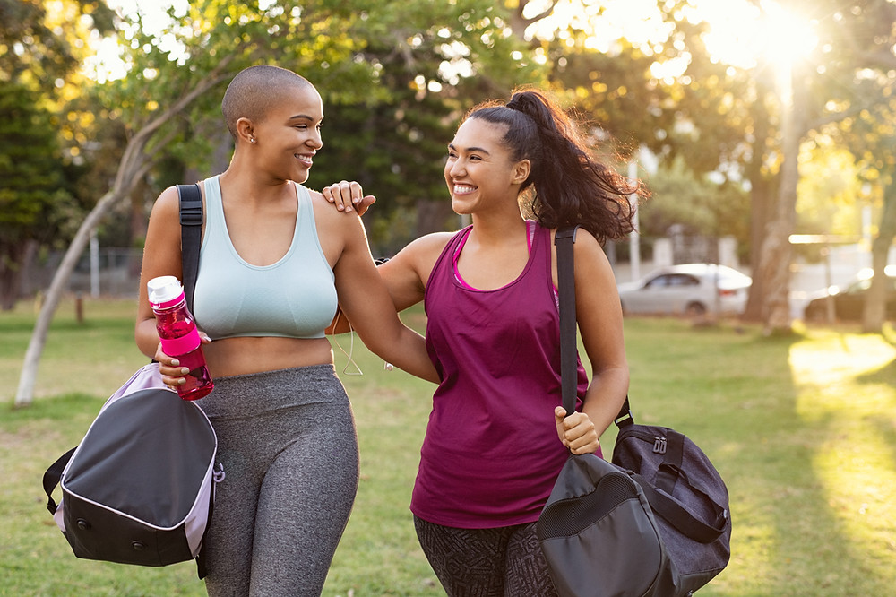 1.Wear your athleisure gear to bed so it's easy to work out as soon as you wake up. (1.Bike to work, get off your bus or train a few stops earlier, or park the car farther away to extend your walk.