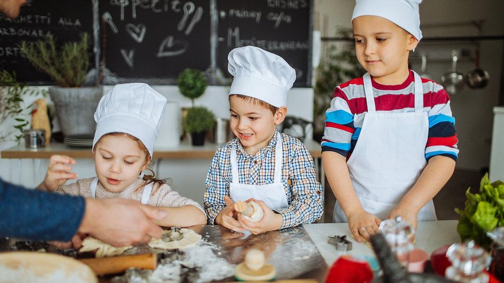 Tre lezioni Zoom di cucina per bambini (a scelta)