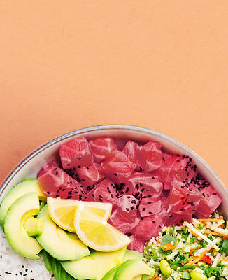 Poke Bowl with Salmon and Avocado