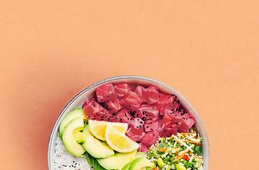 Poke Bowl with Salmon and Avocado