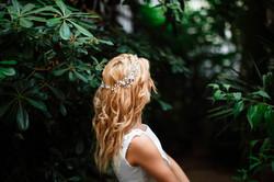 Bruid op trouwfoto
