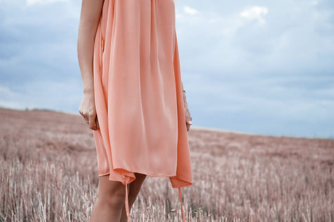 Peach Color Dress